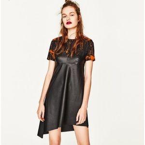 Zara Asymmetrical Combo Dress - Sz Small (NWT)